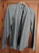 "NEW Topman Grey Marl Long Sleeve Shirt Smart Wedding S 36-38"" (rrp£26)"