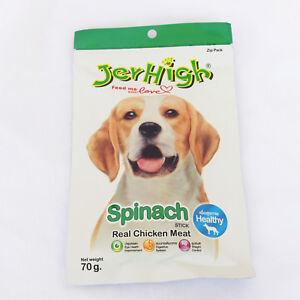 10pcs*70g JerHigh Vegetable Spinach Stick Dog Puppy Snack Treats  Chicken Meat