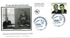 2015-Enveloppe soie Fdc 1°Jour**70 ans de la Sécuruté sociale-Timbre-Yv.4981
