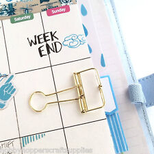 Gold Planner Clips Bulldog Paper Clip 33mm