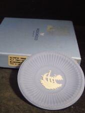 "Wedgwood Jasperware Blue OLYMPIC AUSTRALIA 2000 3"" PIN TRAY SAILING w/ Orig Box"