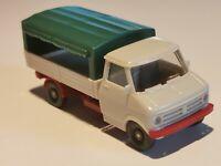 WIKING Bedford Pritsche hellgrauweiß, Plane patinagrün 1980 - 1983 1:87