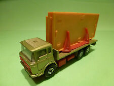 MATCHBOX K13 DAF BUILDING TRANSPORTER TRUCK  - GREEN  - GOOD CONDITION