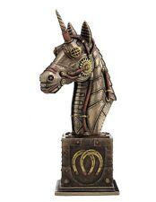 "9.75"" Steampunk Unicorn Bust Collectible Statue Figurine Sculpture Plinth"