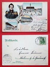 Litho AK SCHILDAU Belgern 1903 Apotheke, Gneisenau Geburtshaus, Marktpl. ( 18824