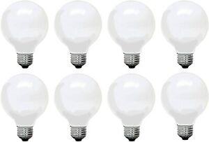 NEW Set of 8 General Electric G25 Decorative Soft White 60w Light Bulbs 660 Lum