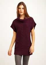 J'ENVIE Cowl Tunic Sweater with Cable Detail – Mulberry XL (16-18) – NWT!!