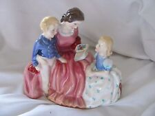 Royal Doulton Bedtime Story bone china figurine England mom boy girl signed