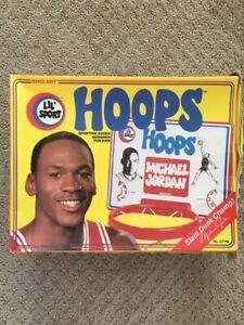 Michael Jordan Lil Sport Ohio Art Basketball Hoop with Ball - Vintage