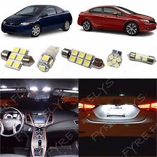 6x White LED lights interior package kit for 2006-2012 Honda Civic HC1W