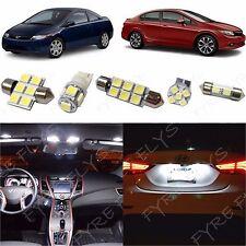 6x White LED lights interior package kit for 2006-2012 Honda Civic HC1W