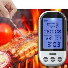 Programmable Wireless Remote Digital Thermometer Probe Meat BBQ Grilling NEW GA