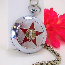 """Vintage Soviet """"PATRIOTIC WAR"""" MOLNIJA POCKET WATCH 18 Jewels Serial #572696"""