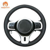 Soft Black Leather Steering Wheel Cover for Mitsubishi Lancer 10 EVO Evolution