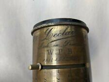 Antique Brass Camera Lens, Leclair France No.5