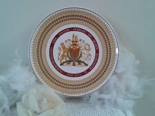 Silver jubilee Large decor plate by Royal Tuscan, Queen Elizabeth II decor plate