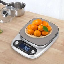 More details for 10kg lcd kitchen scales stainless steel electronic cooking food weighing scale