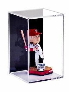 Bobblehead / Figurine Display Case with Wall Mount and Black Back (A016-BB)