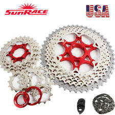 "SUNRACE MTB Bike 40/42/46T Removable Cassette 8-11s KMC ""X"" Chain Cassettes Tail"