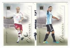 2014 Futera Base Football Card Defender Simon Kjaer Javier Mascherano 1/2