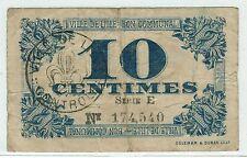 BILLET DE NECESSITE 10 CENTIMES VILLE DE LILLE 59-1657