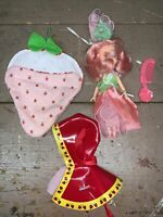Vintage 1980s Rose Petal Place Doll With Rainy Coat & Sleeping Bag