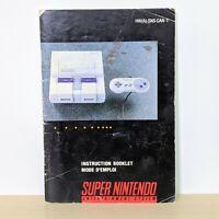 Console HWA-SNS-CAN-1 SNES Super Nintendo Original Instruction Booklet Manual