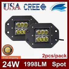 2X 24W CREE LED Work Light Bar Spot Driving Off Road Fog 4WD SEKILL 16w 5inch US