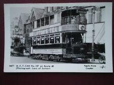 POSTCARD M.E.T TRAM CAR NO 157 ON ROUTE 60