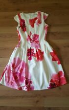 Ladies FAB Cap sleeve  Pink/White/cream Calvin Klein Fit and Flare Dress 4P