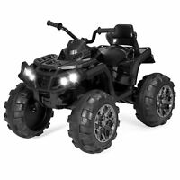 BCP 12V Kids 4-Wheel ATV Ride-On Car w/ 3.7mph Max, Lights, AUX Jack
