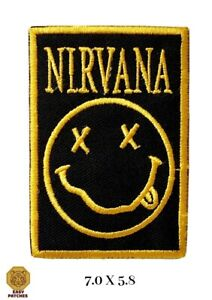 Nirvana Rock music Band Embroidered Iron or Sew On Patch