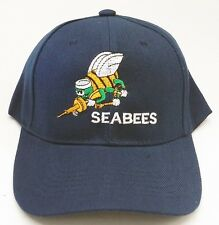 SEABEES SEA BEES LOGO MILITARY BASEBALL CAP HAT FREE SHIPPING USA