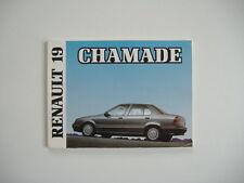 carnet de bord/manuel du conducteur pour RENAULT 19 CHAMADE