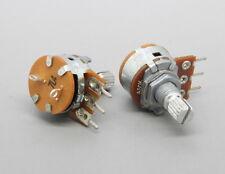2 x 16mm Alpha A50K 50K Audio Taper Potentiometer 15mm Knurled Shaft w. Switch