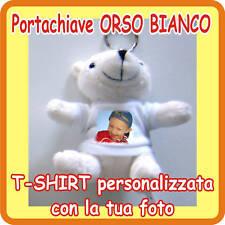 """PORTACHIAVI """"ORSO BIANCO"""" PERSONALIZ. CON LA TUA FOTO!"""