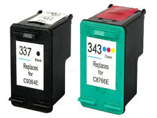 Non-OEM Replaces Fit For HP 337 343 Deskjet 6940dt 6980 6980dt Ink Cartridges