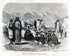 Antique print India / Sarwar afghan people 1870 stampa antica Rajasthan
