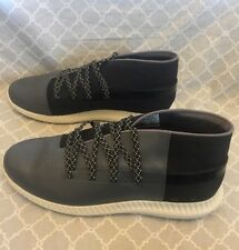 UNDER ARMOUR MENS 11.5 Dark Gray Black VELOCE MID Leather Shoes NEW 1296613-040