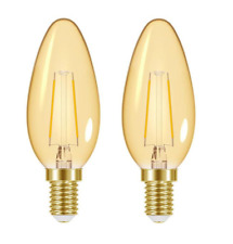 2xEnergizer LED Vela Retro Vintage Decorativa Filamento 2w=16w E14 2200K Lámpara