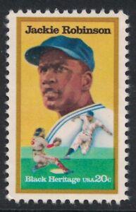 Scott 2016- Jackie Robinson, Baseball Player- 20c MNH 1982- unused mint stamp