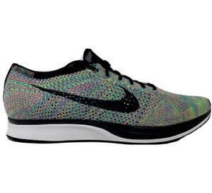 Nike Air Size 13 Flyknit Racer Multi-Color 526628-304 Men New Training Rare
