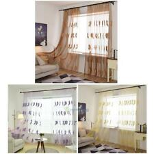 Untra Thin Window Voile Feather Embroidered Polyester Curtains Vanlances 2.5m*1m