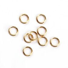 50 GOLD Stainless Steel Open Jump Rings, 6mm OD, 21ga, 0.7mm wire, jum0206