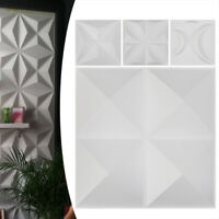 12pcs 3D Wall Panel Decoration Ceiling Tiles Wallpaper Background Wall Panels US
