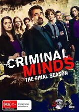 Criminal Minds The Final Season 15 Region 4 DVD