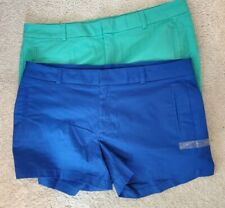 Lot of 2 ANA NWOT TWILL SHORTS size 16 Women Blue & Teal