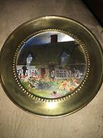 Antique Brass Decorative Plate