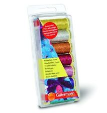GUTERMANN SEW ALL METALLIC EFFECT THREAD SET 7 COLOURS CRAFTS SEWING EMBROIDERY