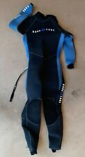 New listing AQUA LUNG 7MM MENS WETSUIT SIZE LG SMOOTH BACK & ANKLE ZIPS TIGHT SEAMS. BL/BLK